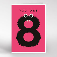 you are 8 birthday card
