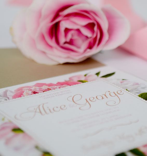 Personalised Wedding Pocketfolds