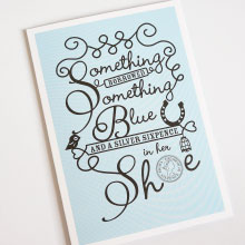 something borrowed wedding card