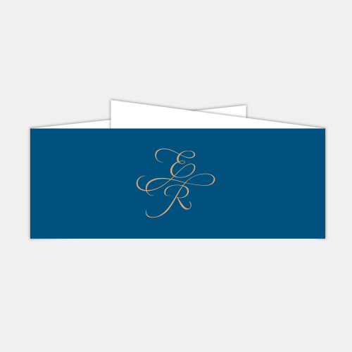wedding invitation belly band folded