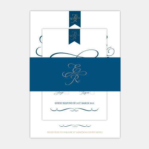 wedding invitation belly band mockup