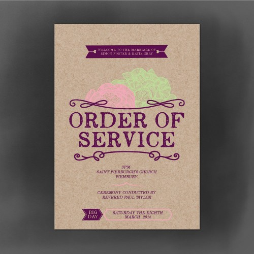 woodland order of service front cover