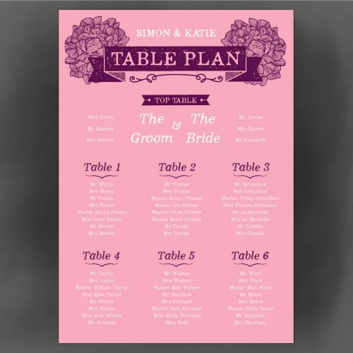 woodland table plan front