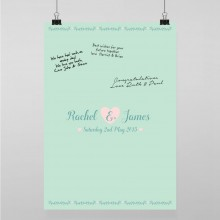 Personalised Guest Sign Poster - Southern Belle
