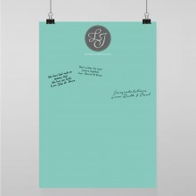 Personalised Guest Sign Poster - Tiffany Charm