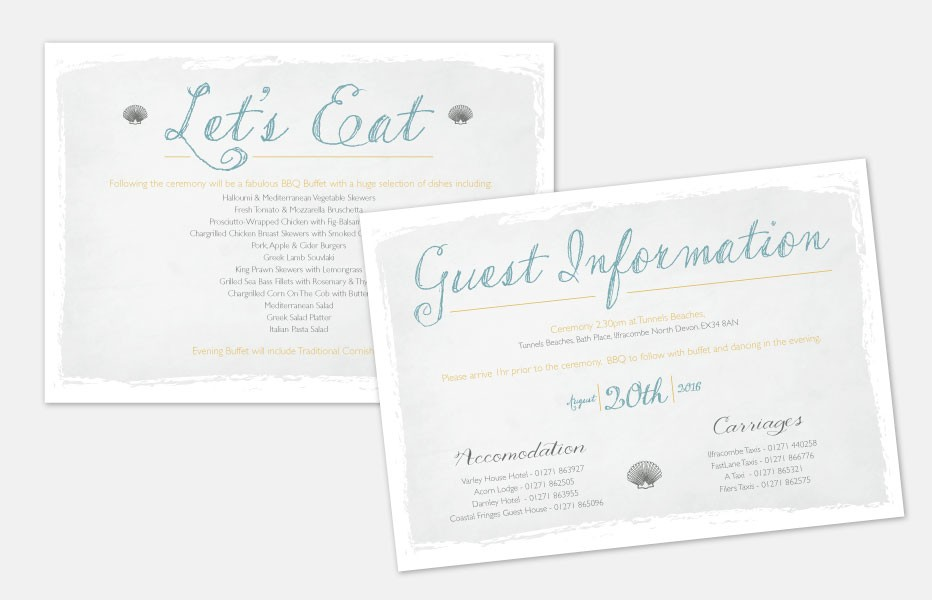 Personalised Information Cards - Coastal