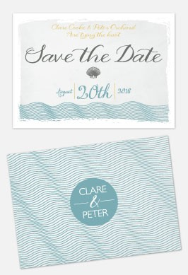 Personalised Save The Date - Coastal