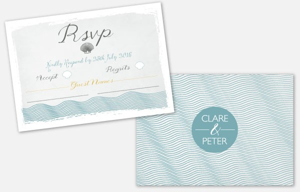Personalised RSVP Cards - Coastal