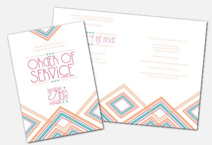 Personalised Order Of Service -  Lexington Summer
