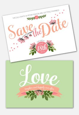 Personalised Save The Date - Love, Laughter...