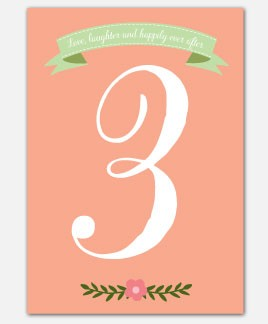 Love, Laughter Table Number