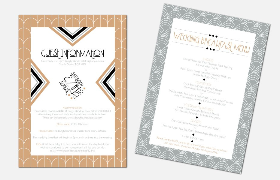 Personalised Information Cards - Lexington Midnight