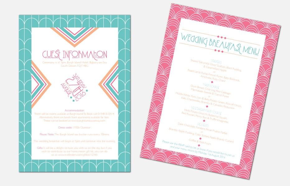 Personalised Information Cards - Lexington Summer
