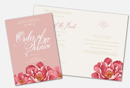 Personalised Order Of Service -  Bella