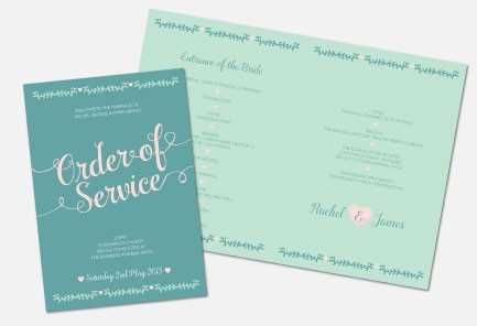 Personalised Order Of Service - Southern Belle
