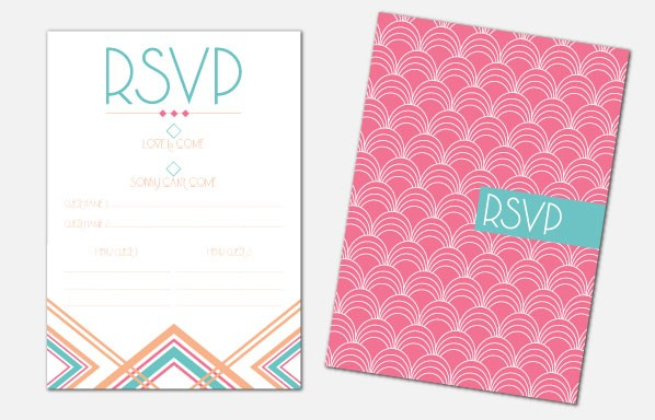 Personalised RSVP Cards - Lexington Summer