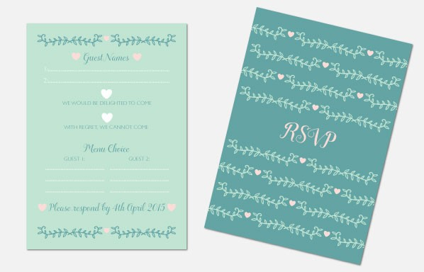 Personalised RSVP Cards - Southern Belle