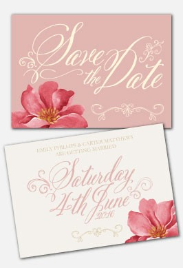 Personalised Save The Date - Bella