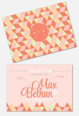 Personalised Save The Date - Geo Love