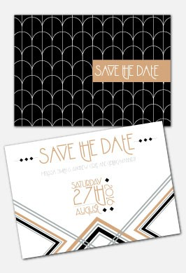 Personalised Save The Date - Lexington Midnight