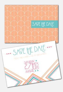 Personalised Save The Date - Lexington Summer