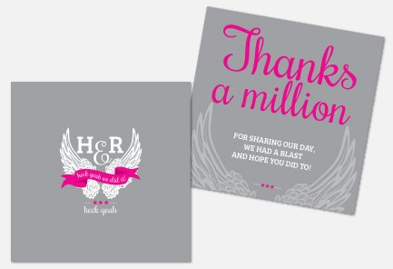 Personalised Thank You Cards - Heck Yeah