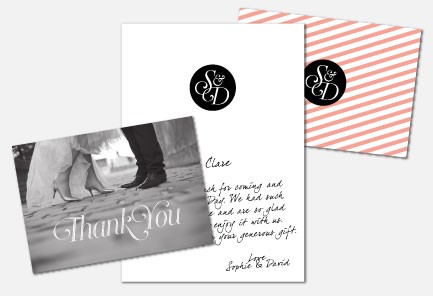 Personalised Thank You Cards - Coco