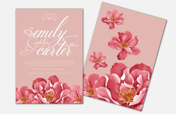 Personalised Wedding Invitations - Bella