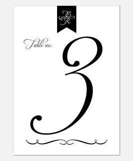 Pure Love Table Number
