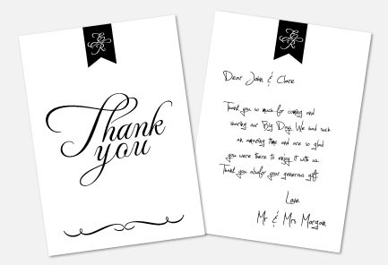 Personalised Thank You Notes - Pure Love