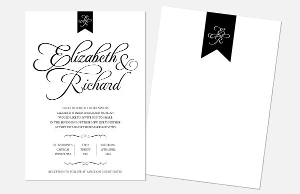 Personalised Wedding Invitations - Pure Love