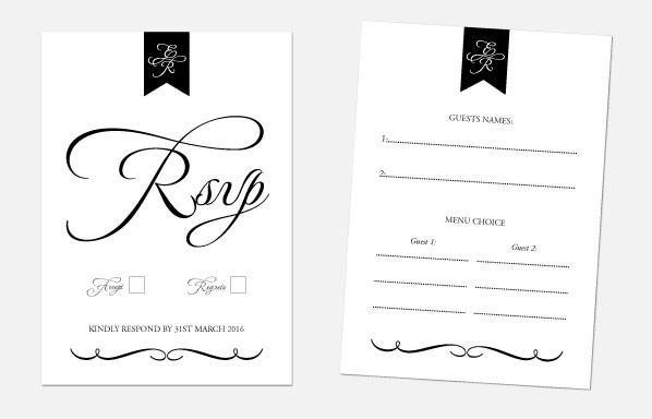 Personalised RSVP Cards - Pure Love