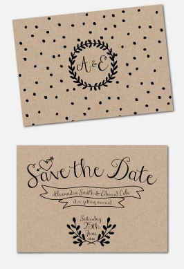 Personalised Save The Date - Rustic Charm