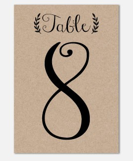 Rustic Charm Table Number