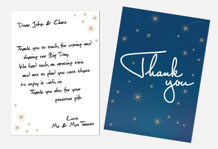 Thank You Notes - Written in the Stars