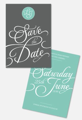 Personalised Save The Date - Tiffany Charm