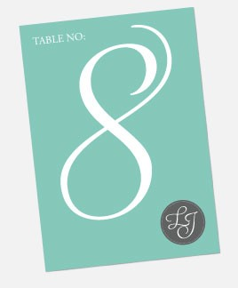 Tiffany Charm Table Number