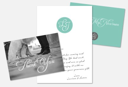 Personalised Thank You Cards - Tiffany Charm