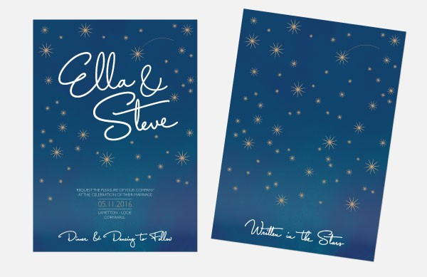 Personalised Wedding Invitations - Written in the Stars