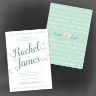 Southern Belle invitation - sample