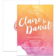 Sunrise Ombre invitation - sample