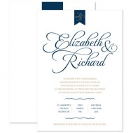 Pure Love Navy/Gold invitation - sample