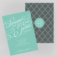 Tiffany Charm invitation - sample