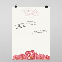 Personalised Guest Sign Poster - Bella