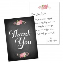 Thank You Notes - Chalkboard Blossom