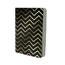 Shimmer Chevron Gold - Black A6 notebook