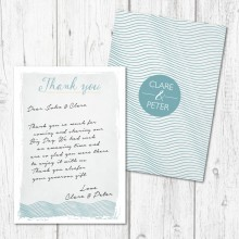 Personalised Thank You Notes - Coastal