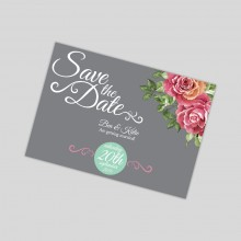 Save the date magnet - English Rose