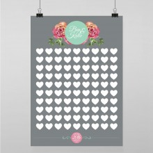 Personalised Guest Sign Poster - English Rose