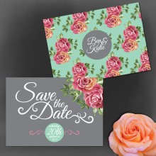 Personalised Save the Date - English Rose